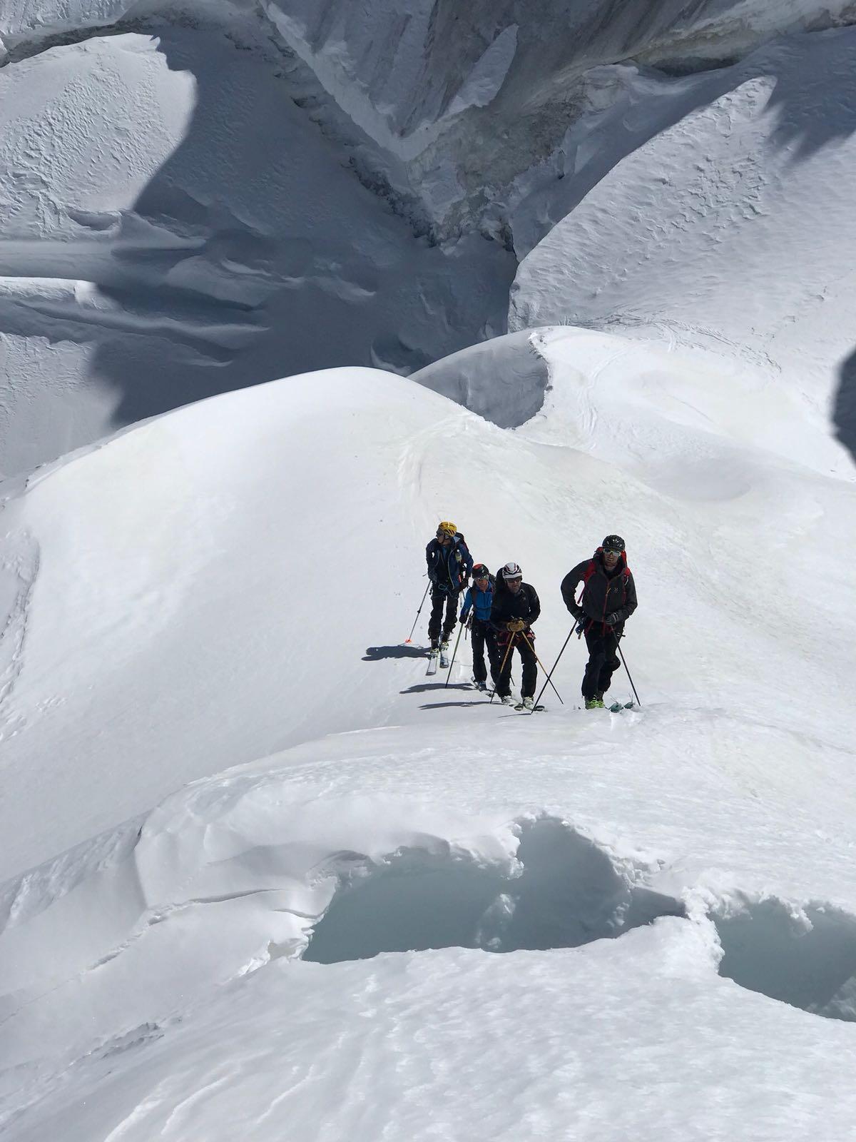 Un po' di sci alpinismo….!