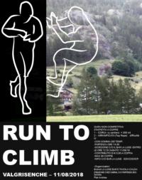 "– ""RUN TO CLIMB"" SABATO 11 AGOSTO 2018 – VALGRISENCHE"